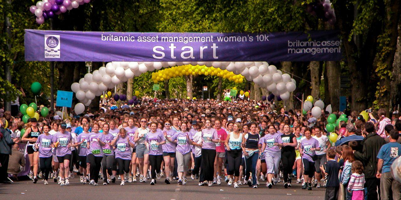 View of the start of the Womens half marathon