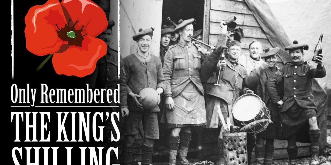 Graphic for The Kings Shilling show. Soldiers in WW1 off duty