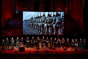 Stage view of the Far, far from Ypres concert at the Usher Hall